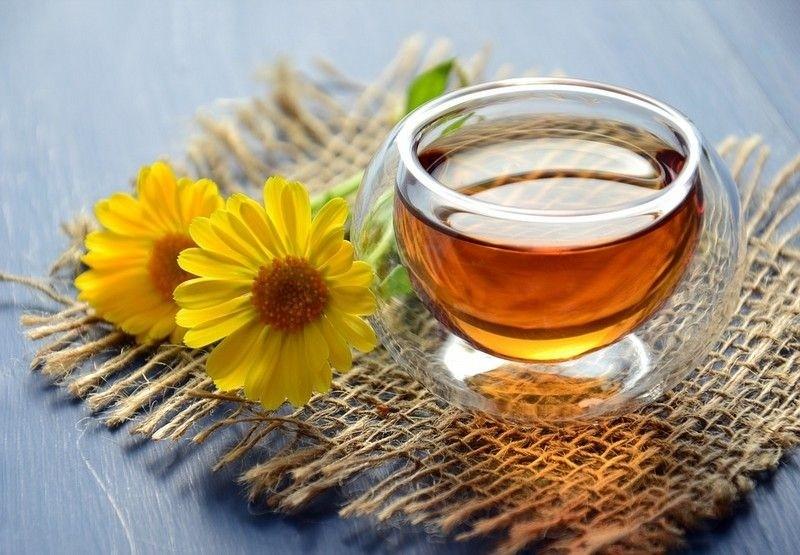 Монастырский чай с цветком